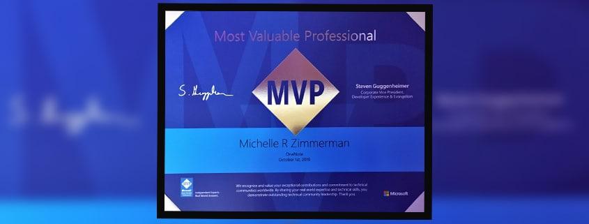 Michelle Zimmerman Microsoft MVP Award