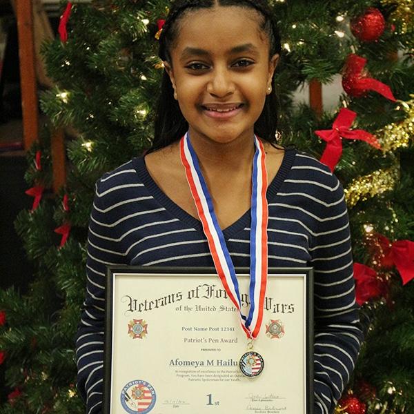1st Place /8th grade - Afomeya Haliu