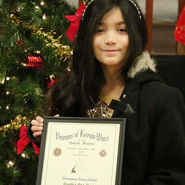 3rd Place / 5th grade Sophia Sta. Rosa