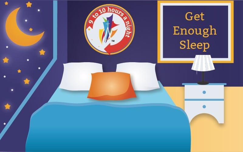 Renton Prep - get enough sleep